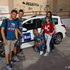 FOTO/ Il backstage della Rai al Liceo Cassarà