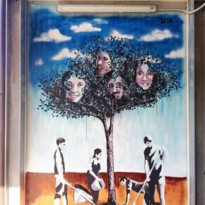 S.O.S. Scuola a L'Aquila/ Il murale dello street artist Desx per i ragazzi uccisi in Turchia