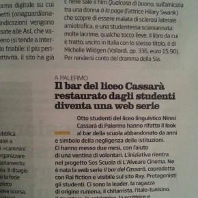 RASSEGNA/ 'Il Bar del Cassarà' anche sul settimanale 'Il Venerdì di Repubblica'