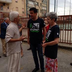 Il Sottosegretario all'Istruzione Reggi con Paolo Bianchini e Paola Rota (Alveare Cinema)