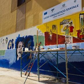 Il #23Maggio con S.O.S. Scuola: Street art e festa dell'antimafia al Liceo Cassarà