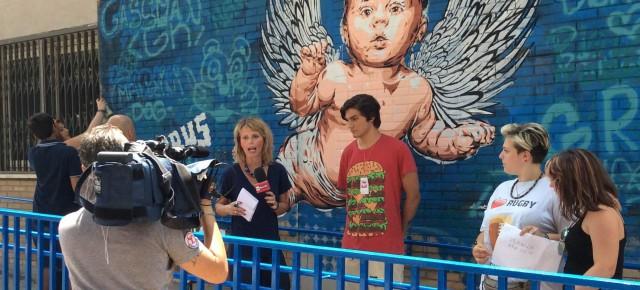 Le telecamere di Rainews24 al campus creativo di Torrevecchia