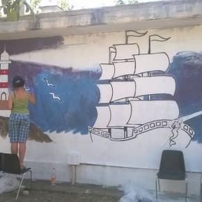 I ragazzi del progetto Tag al campus creativo di Torrevecchia
