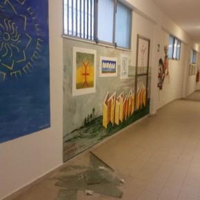 Atti vandalici nel Liceo Cassarà riqualificato da S.O.S. Scuola